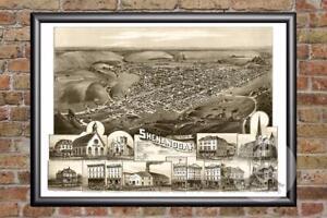 Vintage-Shenandoah-PA-Map-1889-Historic-Pennsylvania-Art-Victorian-Industrial