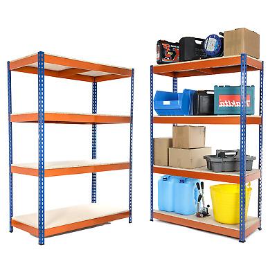 4 Tier Steel Shelving Heavy Duty Garage Storage Racking Blue /& Orange 400KG UDL