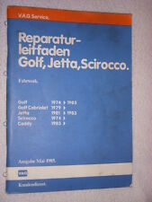 Scirocco+16V+Golf+GTI+Cabriolet Reparaturhandbuch Fahrwerk+Bremse Reparaturbuch