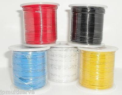 One 100ft Roll Hook Up Wire 22g Solid Core Hookup 22awg