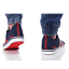 thumbnail 4 - Adidas VS PACE B74317 Navy Red Trainers Shoes Footwear Laces Ankle Collar