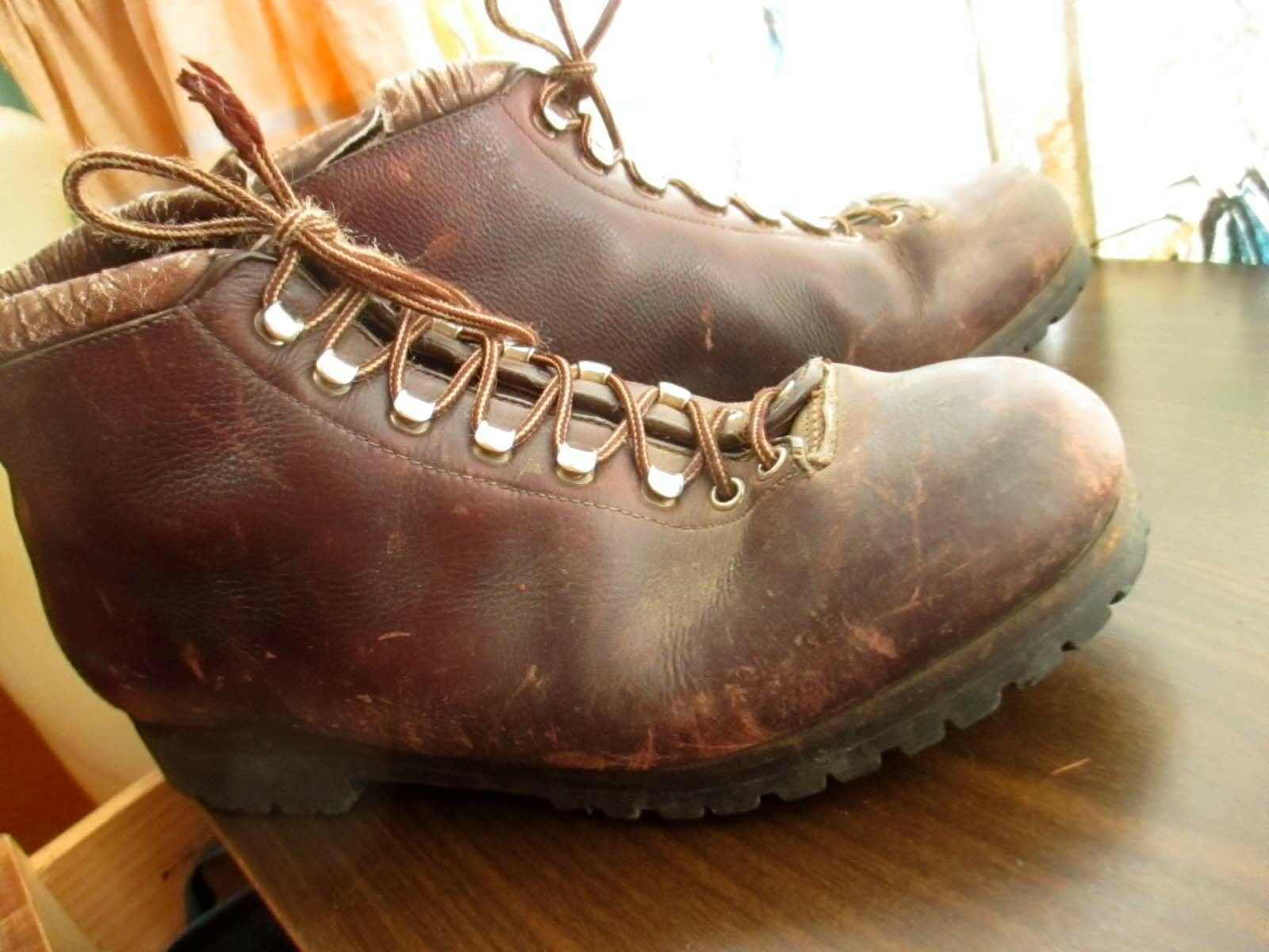 12 M Vtg. Italian Calzaturificio The Alps by FABIANO Leder Hiking Stiefel Damenschuhe