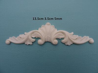 Decorative round centre applique resin onlay furniture moulding r101