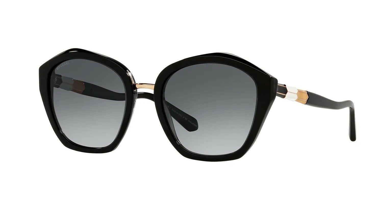 Bvlgari SERPENTI BV 8234 Black/Grey Shaded Polarized (5381/T3) Sunglasses