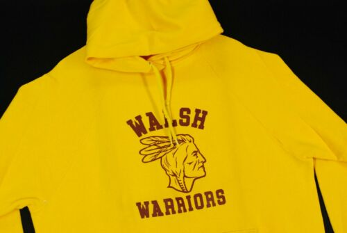 Vintage 70s College House Walsh Warriors Native Am