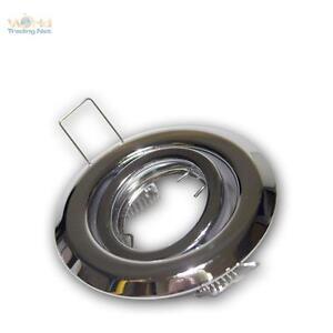 5-Piezas-Cromado-Foco-Empotrado-MR11-12V-Orientable-Marco-Montaje-Reflector