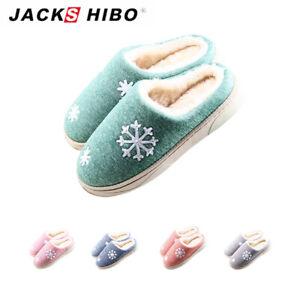 JACKSHIBO-Damen-Winter-Pluesch-Hausschuhe-Warme-Pantoffeln-Indoor-Slippers-Schuhe