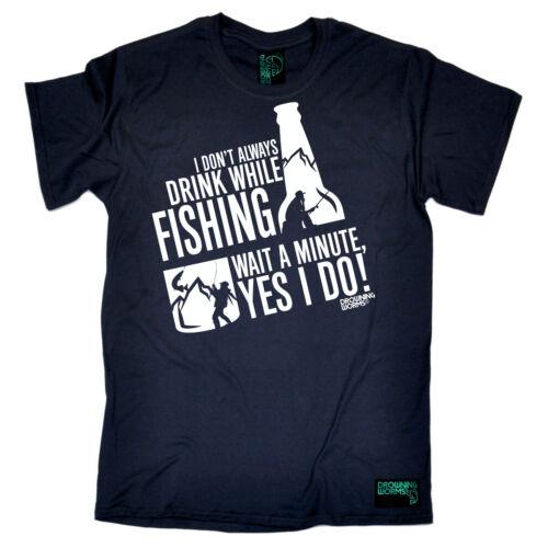 Bevanda pesca durante la pesca Pesca Sportiva Mulinello Canna Pesca Divertente Compleanno T-shirt