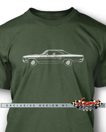 Multiple Colors Sizes  Classic Car 1970 Plymouth Road Runner Coupe Men T-Shirt