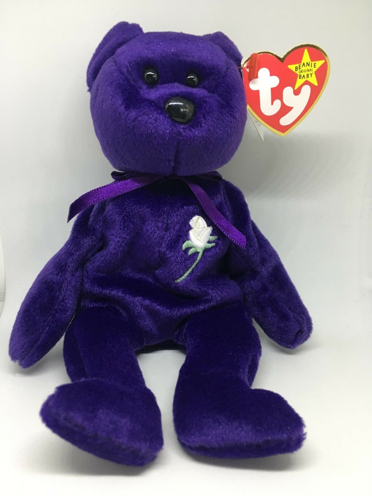 TY PRINCESS DIANA BEANIE BABY.  GASPORT HANG TAG ERROR WITH CASE.