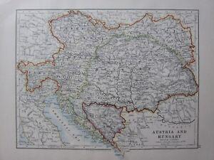 1904-MAP-AUSTRIA-amp-HUNGARY-TYROL-BOHEMIA-BOSNIA-GALICIA-CROATIA-SLAVONIA