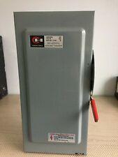 Eaton Cutler Hammer Dg223ngb 100 Amp 240 Volt Fused Disconnect