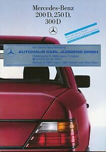 0518MB-Mercedes-200D-250D-300D-W124-Prospekt-1985-11-85-brochure-prospectus-Auto