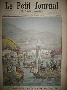 FETE-DES-FLEURS-MEDITERRANEE-RADE-DE-VILLEFRANCHE-SUR-MER-LE-PETIT-JOURNAL-1902