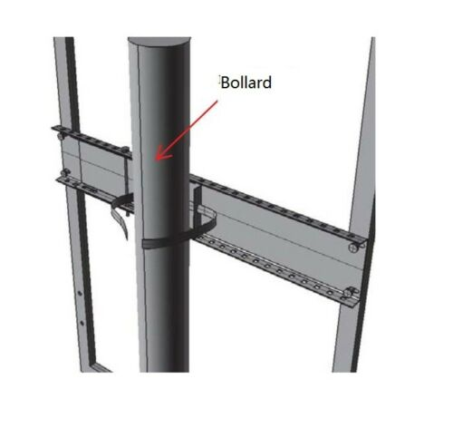 Bollard Signage Fastener Bracket Sign Frame Pole Mounting Bollard Bracket