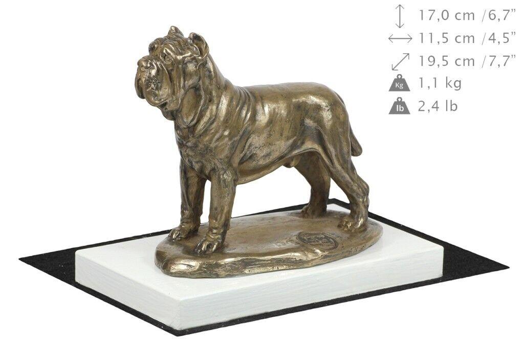 Neapolitan Mastiff Mastiff Mastiff - figurine made of Bronze on the Weiß wooden base Art Dog cebab7