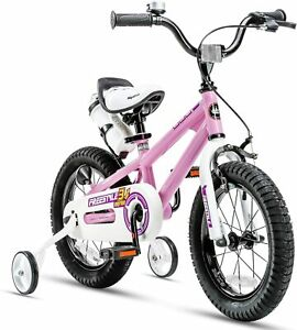 Kids Bike Boys Girls Freestyle Bicycle Child S Training Wheels Kickstand Pink Ebay