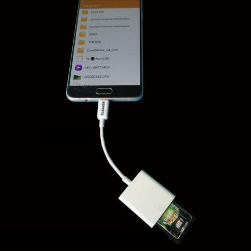 1PC OTG Micro USB to SD Card Reader Adapter for Samsung Huawei Android HTC