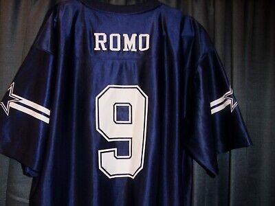 TONY ROMO MENS Jersey DALLAS COWBOYS 9 Authentic Apparel XL BLUE Shirt NFL | eBay