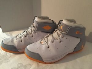Nike-Air-Jordan-Melo-1-5-Men-s-Orange-2013-Gray-631310-135-Size-12-Nice-Look