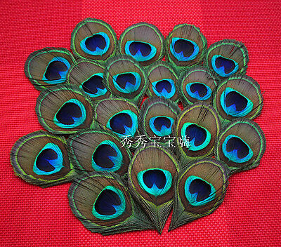 Wholesale! 10/20/50/100/200pcs 8-12 cm feathers peacock eye decoration