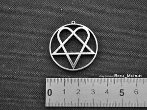 Him necklace stainless steel heartagram pendant merch logo symbol ebay image is loading him necklace stainless steel heartagram pendant merch logo aloadofball Image collections