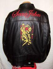 NEW**SEAN JOHN Leather Jacket/Coat *3XL**$600***NEW