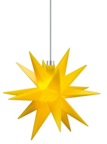 LEUCHTENDER LED STERN 18 ZACKEN Ø 12CM FALTSTERN LEUCHTSTERN ADVENTSSTERN INNEN