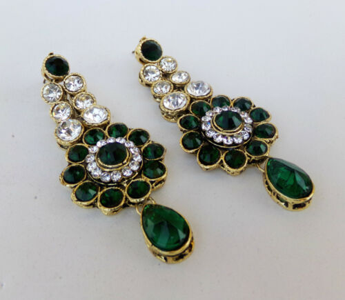 Indian Bollywood Ethnic Gold Plated Party Wear Pearl Cz Jhumki Jhumka Earrings k