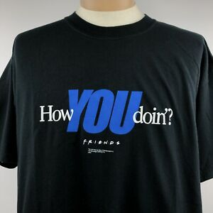 NBC-Experience-FRIENDS-How-You-Doin-Shirt-Sz-XL-Joey-Short-Sleeve-Tee