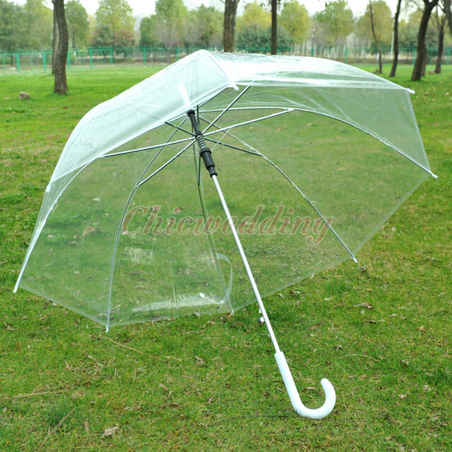 Clear Transparent Rain Umbrella Parasol PVC Dome for Wedding Party Favor