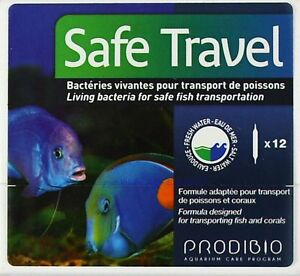 Safe Travel 12 Ampoules Prodibio Bacteria For Safe Transport 1,66 €/ St Bracing Up The Whole System And Strengthening It Water Tests & Treatment Fish & Aquariums