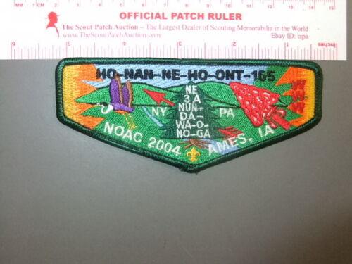 Boy Scout OA 165 Ho Nan Ne Ho Ont flap 9893BB