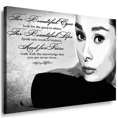 Leinwandbilder ORG Audrey Hepburn Bild auf Leinwand Wandbild, Kunstdruck Poster