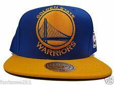d70c49dee70 Golden State Warriors Mitchell   Ness Blue XL Logo 2 Tone Snapback Hat NBA