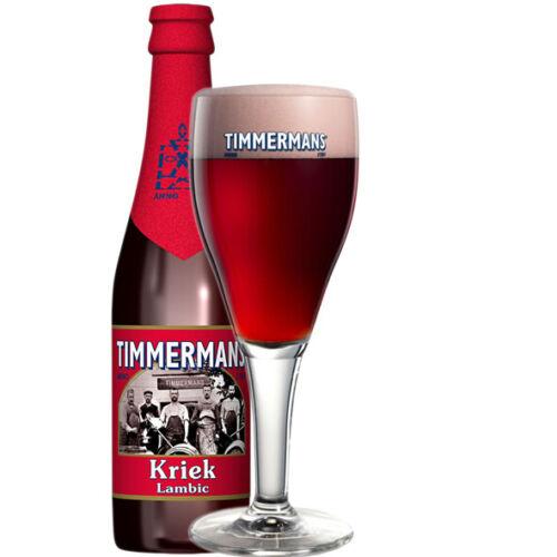 Set Of 2 x Half Pint Timmermans Belgian Beer Glasses Brand New Genuine CE Marked