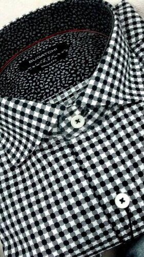Geometric shapedf NWT Bugatchi men/'s size S,M,/& L long sleeve button down shirt