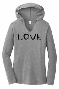 Love-Yoga-Ladies-Hoodie-T-Shirt-Workout-Gym-Fitness-Yoga-Graphic-Soft-Tee