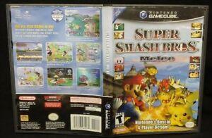 SUPER SMASH BROS MELEE - NINTENDO GAMECUBE Case Cover Art Only! *NO GAME*