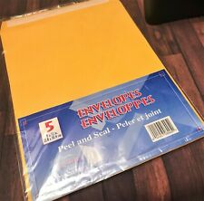 Paper World Yellow Manila Envelopes Peel Amp Seal 9 X 12 Business Qty 1 Pack Of 5