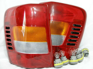 W-6BulbsSockets-Rear-Tail-Light-Lamp-One-Pair-for-1999-2001-Grand-Cherokee