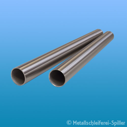 50-250 mm V2A geschliffen K240 1.4301 Edelstahl Rundrohr Ø 16 x 1,5 mm L