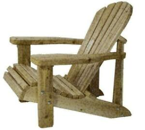 Canadian Handcrafted Cedar Adirondack Muskoka Chairs for Cottage Deck Lawn Firepit, Etc. - FREE SHIPPING Canada Preview