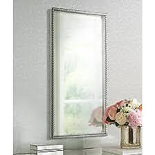 Large 49 Silver Metal Rectangular Beveled Wall Mirror Rustic Spanish Style For Sale Online Ebay