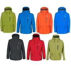 Trespass Mens Corvo Waterproof Breathable Rain Coat Jacket