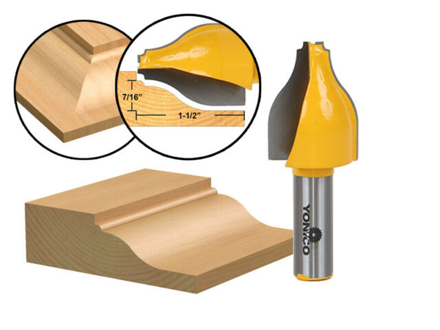 "Medium Ogee 1//4/"" Shank 1PC Raised Panel Vertical Router Bit"
