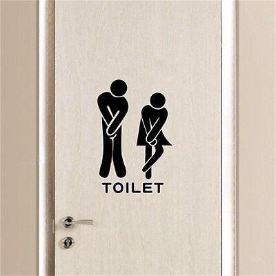 Funny Toliet Bathroom Wall Sticker  Decals washroom vinyl wall quotes home decor