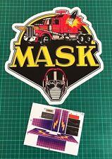 M.A.S.K. Thunderhawk custom vintage decals/stickers die cut best  MASK Kenner