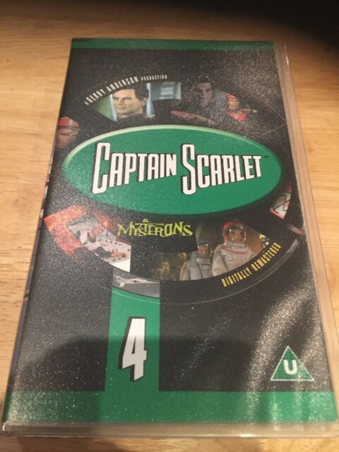 CAPTAIN SCARLET & THE MYSTERONS  4 DIGITALLY REMASTERED - VHS PAL (UK) VIDEO