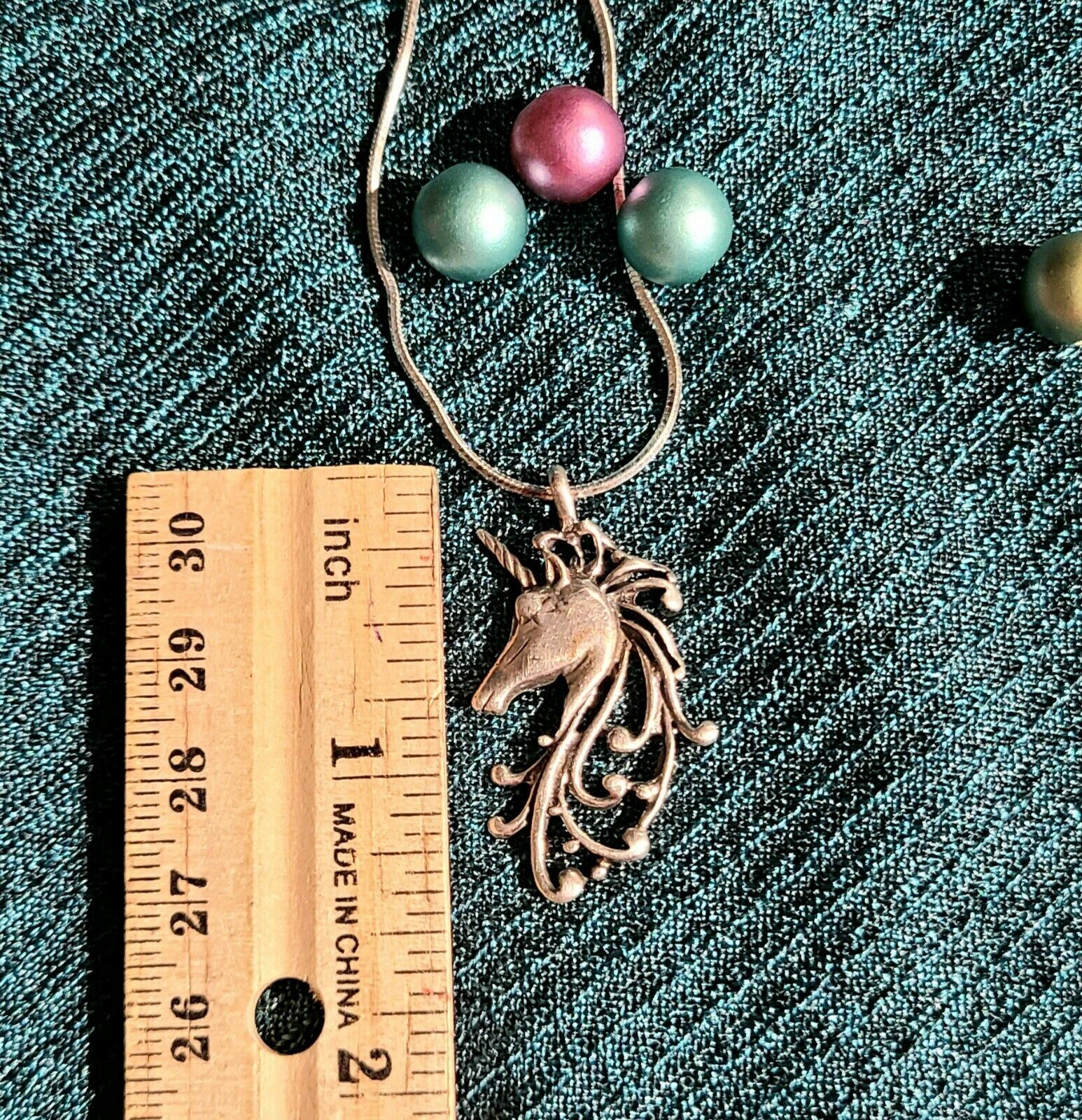 Vintage Sterling Silver Unicorn Pendant Necklace … - image 11